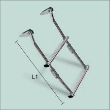 Art. 141.10 Scaletta in acciaio inox applicabile su piani oppure su plancette