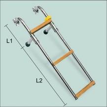 Art. 141.04 Scaletta in acciaio inox con gradini in teak