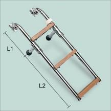 Art. 141.15 Scaletta in acciaio inox con gradini in nylon
