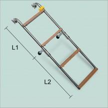 Art. 141.18 Scaletta in acciaio inox con gradini in nylon