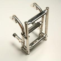Art. 141.35 Scaletta pieghevole in acciaio inox lucidato per gommone e barche con gradini in acciaio inox