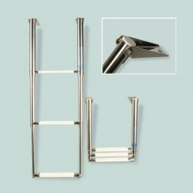 Art. 141.32 Scalette telescopiche a scomparsa per plancette in acciaio inox