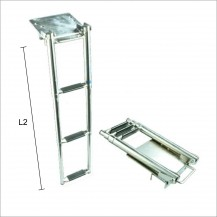 Art. 141.34 Stainless steel 316 boarding ladder 3 steps