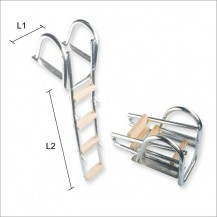 Art. 141.33 Stainless steel 316 boarding ladder 4 steps