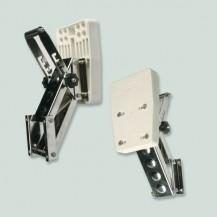 Art. 136.01 Supporto motore a ribalta in acciaio inox 316 per motore ausiliario con maniglia di sicurezza regolabile