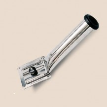 Art. 176.01A Fishing rod wallmounted with extractable fitting in 316 stainless steel.