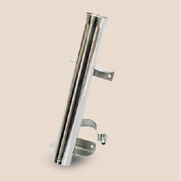 Art. 176.10 stainless steel 316 fishing rod holder for roll-bar with stop pin