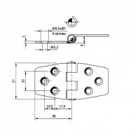 Art. 175.62 Stainless steel hinges thickness