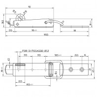 Art. 219.03 Hatch fastener inox with hole for padlock