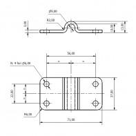 Art. 128.13 Stainless steel folding pad eye